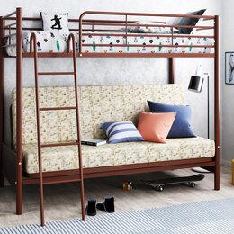Кровати - Кровать двухъярусная Мадлен 2 с диваном, 0