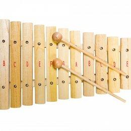 Ударные установки и инструменты - FLIGHT FX-12N Ксилофон диатонический, 12 нот, палочки в комплекте, 0
