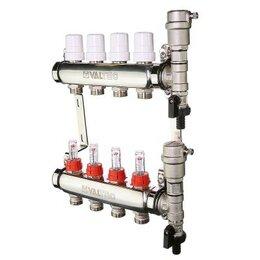 Коллекторы - Коллектор для теплого пола на 4 контура с расх Valtec VTc.589.EMNX.0604, 0
