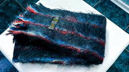 Шарфы - Красивый, теплый махеровый шарф, 0
