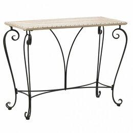 Столы и столики - Консоль прямоугольная черная с коричневым Bergen…, 0