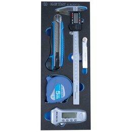 Измерительное оборудование - Набор измерительных инструментов, ложемент, 5 предметов KING TONY 9-90305TQ, 0