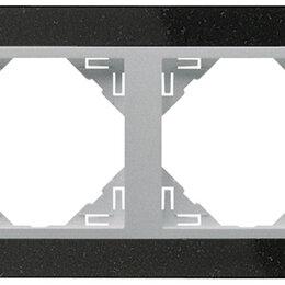 Фоторамки - 4-х местная рамка, натуральный гранит / алюминий, Efapel, 0