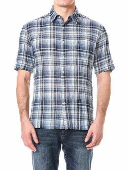 Рубашки - Летние рубашки мужские W1023 DUSTY_BLUE, 0