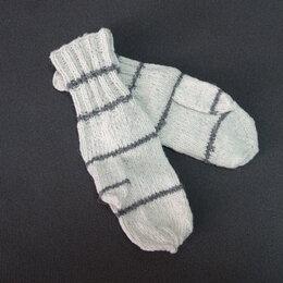 Перчатки и варежки - ВАРЕЖКИ вязаные, овечья шерсть, (ручная вязка), 0