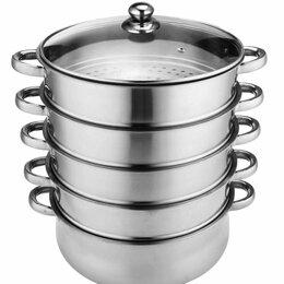 Кастрюли и ковши - Новая посуда Кастрюля мантоварка пароварка мантышница нержавейка, 0