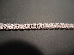 Браслеты - Новый браслет с розовыми фианитами, 0