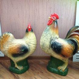 Садовые фигуры и цветочницы - Петух курица фигуры статуэтки садовые, 0