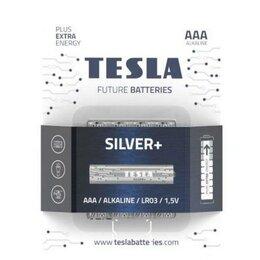 Батарейки - Батарейки Tesla SILVER AAA+4ks Alkaline AAA (LR03,, 0