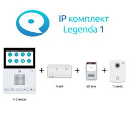 Домофоны - Комплект IP домофона True IP Legenda 1: панель +…, 0