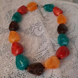 Колье и бусы - Ожерелье из крупных камней., 0