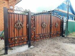Заборы и ворота - Ворота холодная ковка из проф трубы, 0