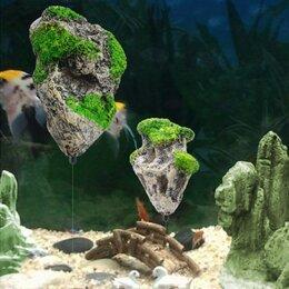 Фоны для аквариумов и террариумов - плавающие скалы в аквариум, 0
