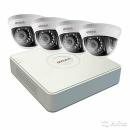 Камеры видеонаблюдения - Комплект видеонаблюдения hiwatch на 4 камеры 1080p, 0