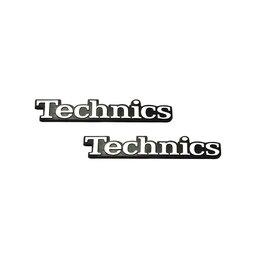 Интерьерные наклейки - Эмблема Technics, оригинал, 56 х 9мм, комплект 2 штуки, 0
