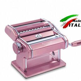 Пельменницы, машинки для пасты и равиоли - Ручная машинка для пасты Marcato Design Atlas 150 Rosa раскатка - лапшерезка, 0
