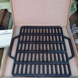 Аксессуары для грилей и мангалов - Гриль чугунный на мангал или печь, 0