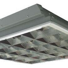 Настенно-потолочные светильники - Светильник ЛВО с зеркальным растром (595х595 мм), 0