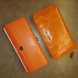 Кошельки - Новый оранжевый кошелек из натуральной кожи, два вида, 0