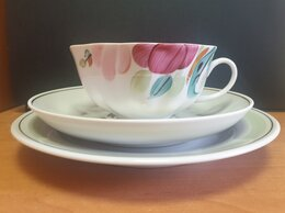 Кружки, блюдца и пары - Фарфоровое чайное трио Дулево 1999 год, 0