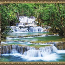 Маникюрные и педикюрные принадлежности - Алмазная мозайка 40х50 EW 10112 Каскадный водопад Круглые стразы Полное покрытие, 0