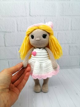Куклы и пупсы - Куколка ручной работы в шляпке, 0