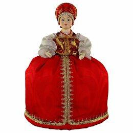 Сувениры - Интерьерная кукла в красном платье грелка на…, 0