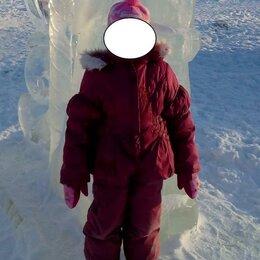 Комбинезоны - Зимний костюм с подкладом, р. 104, шапка в подарок, 0