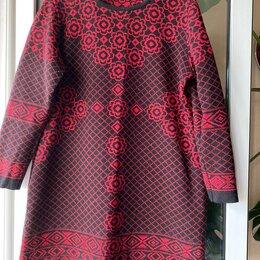 Платья - Плотное шерстяное теплое Платье-туника жаккард в стиле Версаче 50-52 шерсть 50%, 0