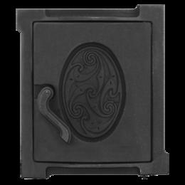 Наборы и аксессуары для каминов и печей - Топочная дверка ДТУ-4А 250*280, 0