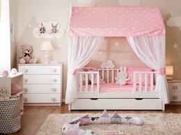 Кроватки - Кровать-домик Тимберика Кидс №11 с балдахином из…, 0