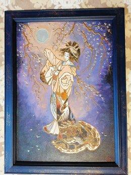 Картины, постеры, гобелены, панно - Картина с девушкой (Гейша) интерьерная картина…, 0