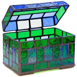 Шкатулки - Шкатулка-сундучок в сине-зелёных тонах., 0