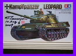 Сборные модели - 1/35 сборная модель танка Леопард с автографом…, 0