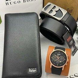 Подарочные наборы - Подарочный набор для мужчин Boss. 3 в 1. Нат. кожа, 0