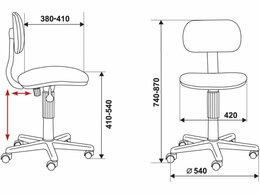 Компьютерные кресла - Кресло детское Бюрократ CH-201NX, 0