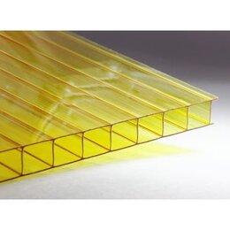 Поликарбонат - Сотовый поликарбонат Желтый CARBOGLASS Премиум 2,1х6м, 10 мм.(1,45 кг/м2), 0