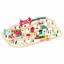 Детские железные дороги - Деревянная Железная Дорога AC7502, 0