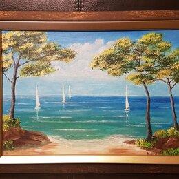 Картины, постеры, гобелены, панно - Картина Средиземное море, акрил,  размер 35 х 26 см., 0