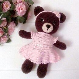 Мягкие игрушки - Вязаный медведь  , 0
