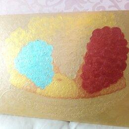 """Картины, постеры, гобелены, панно - Картина """"Фрукты в золотой вазе""""(двухсторонняя), 0"""