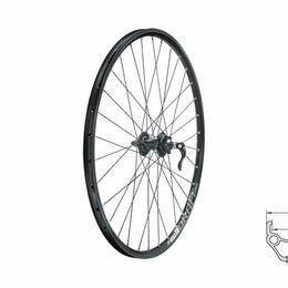 """Обода и велосипедные колёса в сборе - Колесо переднее KLS DRAFT DSC, 26"""", двойной обод 32Н, с эксцентриком (черное), 0"""