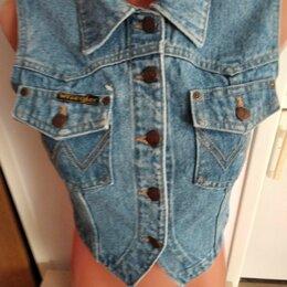 Жилеты - Новый женский джинсовый фирменный жилет 30 размера, 0