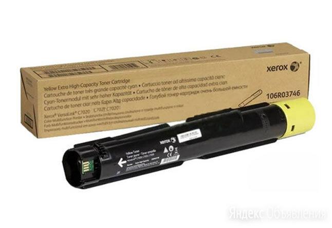 Тонер-картридж XEROX VersaLink C7020/7025/7030, 16,5К  желтый 106R03746 по цене 7920₽ - Чернила, тонеры, фотобарабаны, фото 0