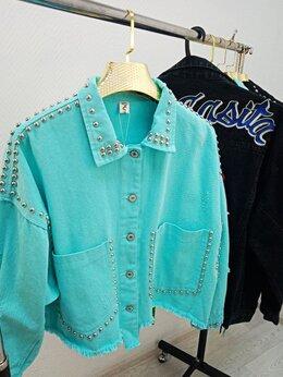 Куртки - Джинсовка женская Арт.DK.1005.W. Бирюзовый., 0