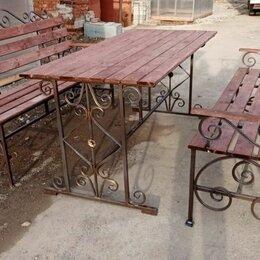 Комплекты садовой мебели - Комплект садовой мебели, скамейка, стол, 0