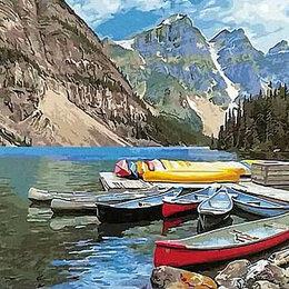Раскраски и роспись - Картина по номерам на холсте-горы, 0