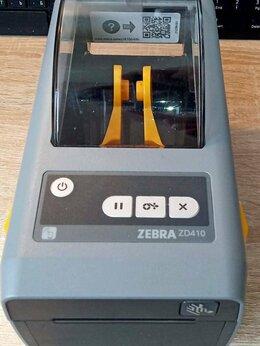 Принтеры чеков, этикеток, штрих-кодов - Zebra ZD410, комплект, новый (+Zebra DS2208 и др), 0