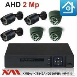 Камеры видеонаблюдения - Комплект видеонаблюдения на 6 камер 1080P, 0