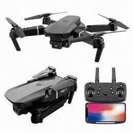 Квадрокоптеры - Квадрокоптер дрон E88 с камерой, 0
